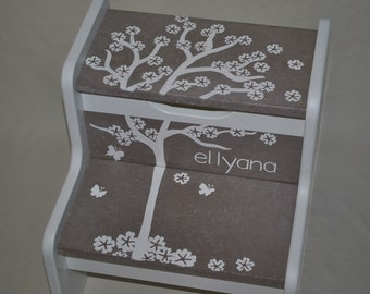Kids Personalized 2 Step Stool - Falling Leaves