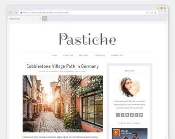 "Premade WordPress Theme Blog ""Pastiche"" | Modern & Elegant WordPress Template"