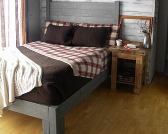 Platform Bed, Platform, Bed, Queen Bed, Headboard, Bed Frame, Beds, Bedroom Furniture, King Bed, Rustic, Furniture, Repurposed, Reclaimed