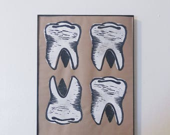 Teeth Print - 8.5x11