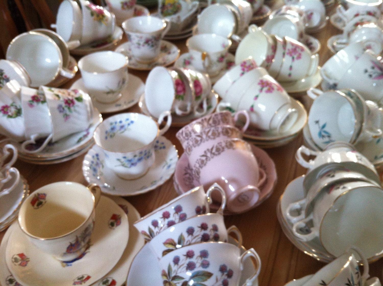Vintage Tea Cups Part - 19: ?zoom