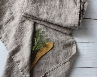 natural linen towel, hand towel, face towel, tea towel, kitchen towel, RUSTIC linen, heavy linen