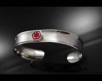 Medical Alert Bracelet sterling silver .925