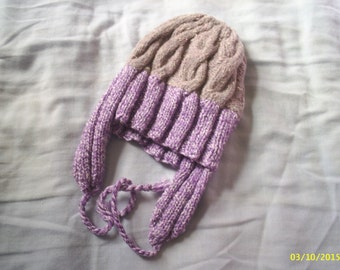 Purple hat with ear flaps