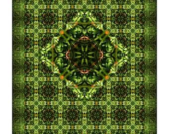 Moss Blossoms Showcase Quilt