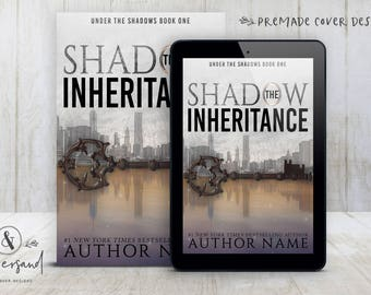 "Premade Digital eBook Book Cover Design ""The Shadow Inheritance"" Adult YA Mystery Suspense Conspiracy Thriller"