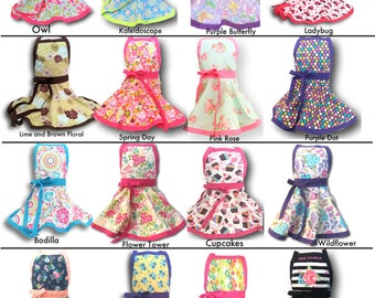 Kids apron, Personalized Girls Apron, Embroidered kids apron, child's apron, tween apron, toddler apron, kids pretend play apron