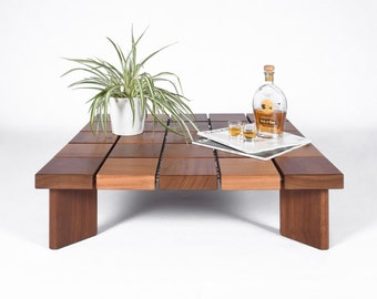 Coffee table / Mid century coffee table solid wood / Modern coffee table / Side table Scandinavian-style handmade / end table solid /