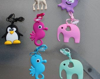 Silicone Teethers in Animal Shapes      *Octopus sold out*