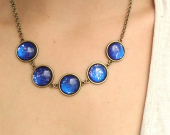 Blue Universe Necklace Astronomy Jewelry Galaxy Necklace Space Jewelry Nebula Necklace Galaxy Jewelry Space Necklace Nebula Jewellery Cosmos