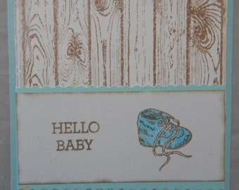 Handmade Baby Boy Card