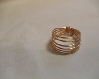 """8 1/2"""" Copper Wire Wrapped Ring, ring, wire wrapped, copper"""