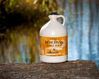 Pure Wisconsin Maple Syrup Gallon