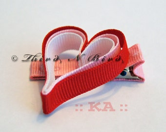 Heart Hair Clip Ribbon Sculpture Instruction Set