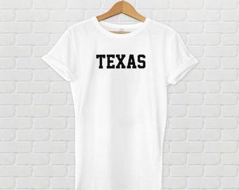 Texas Varsity Style T-Shirt - White