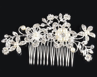 Tiara Hair Comb,Bride Wedding Haircomb Accessories,Crystall Comb, sparkling