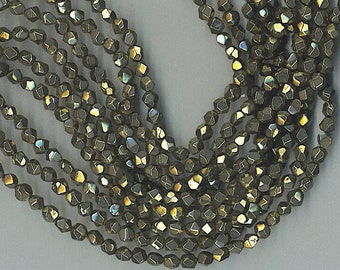 """15"""" Strand 6mm Faceted Pyrite Nugget Beads"""