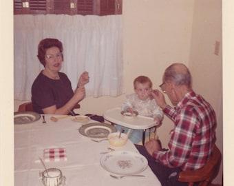 Feeding the baby - Found Photograph, Original Vintage Photo, Photograph, Old photo, Funny photo, Snapshot, Photography, Vernacular