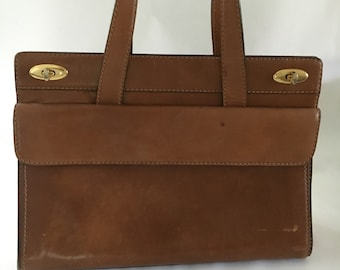 Kelly Style Bag, by Igor, Italian, Brown Leather, Vintage