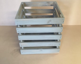 Shabby repurposed timber crate