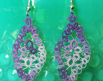 Tatted Marquis Earrings