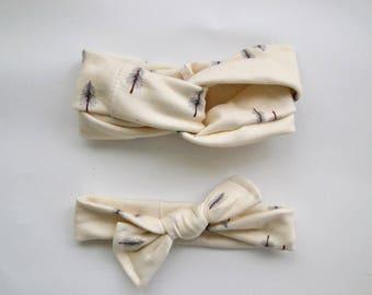 Pine Knit Headbands - turban headband - knotted headband - headbands for women - fabric headbands - thick headbands - baby turban headband