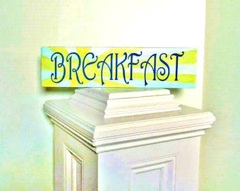 Breakfast sign - kitchen sign, kitchen decor, wall art for the kitchen