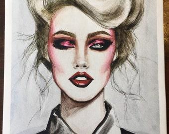1985 Limited Edition Fashion Illustration Fine Art Print
