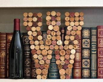Wine Cork Letter ~ Wall Decor Initial ~ Wine Cork Art ~ Family Name ~ Repurposed Wine Corks ~ Wine Lover Gift ~ Housewarming ~ Wedding Gift