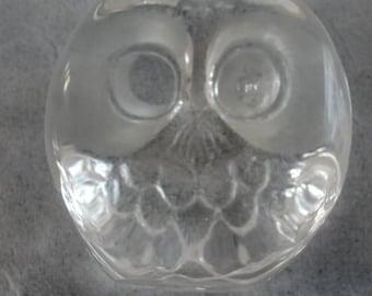 OWL Sweden Crystal Signed Numbered MATS JONASSON Vintage Paperweight Sculpture