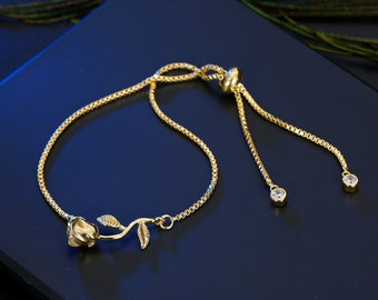 Handmade Rose Bracelet