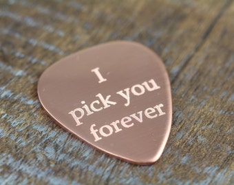 Personalized Engraved Guitar Pick, Valentines Gift, Wedding Gift, Anniversary Gift