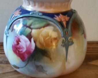 Royal Worcester vase, flower design, hand painted, beautiful!