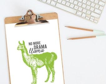 Llama Drama | funny art print | Llama decor | llama art print | Llama print | funny animal art | animal art print | funny llama decor