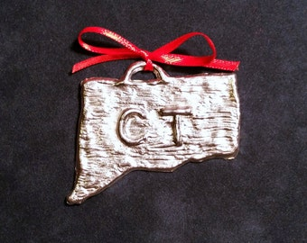 Pewter Connecticut Ornament