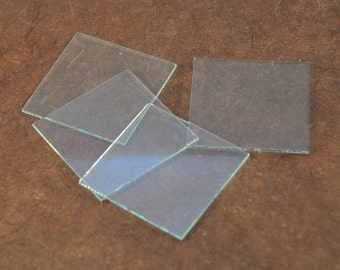 """Glass Blanks - 1.25"""" x 1.25"""" Square - Perfect for Jewelry design"""