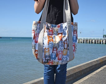 Montreux Cats Beach Bag Tote Bag