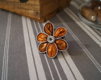 Orange flower ring Nespresso