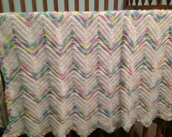 Ripple Baby Afghan with matching Sweater