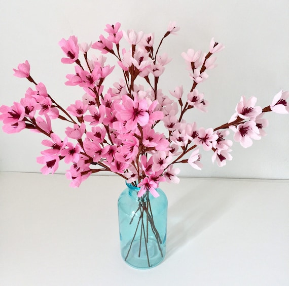 Cherry blossomsapple blossoms paper flowers like this item mightylinksfo