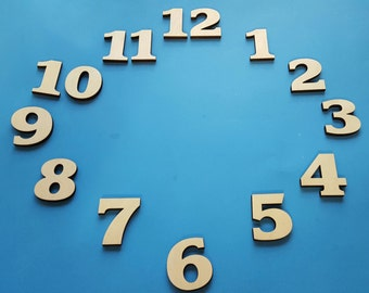 """2"""" tall 1/4"""" thick clock numbers"""