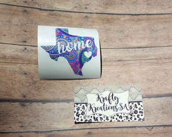 Texas decal sticker, personalized decal, texas car decal, Yeti decal, macbook sticker, gift for her, vinyl decal for tumbler, state decal