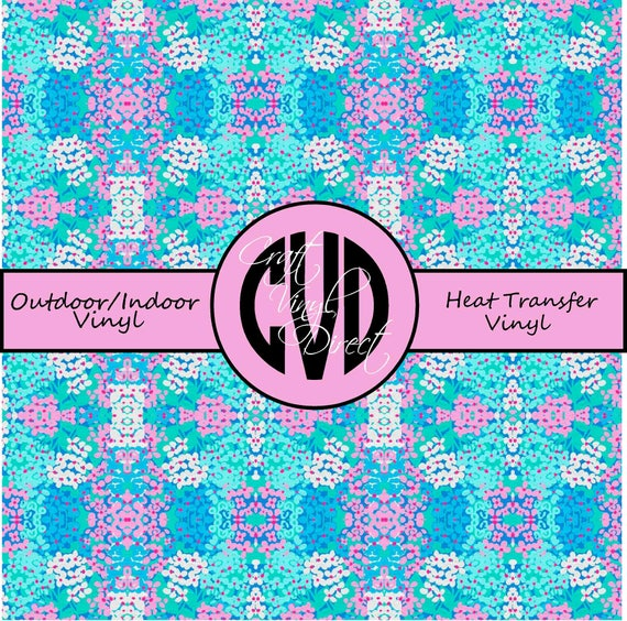 Beautiful Patterned Vinyl // Patterned / Printed Vinyl // Outdoor and Heat Transfer Vinyl // Pattern 739