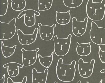 Cotton + Steel – Print Shop by Alexia Marcelle Abegg, Hello – Grey