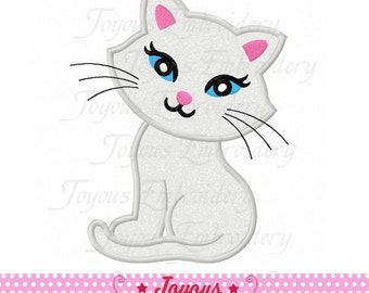 Instant Download Cute Cat Applique Machine Embroidery Design NO:2181
