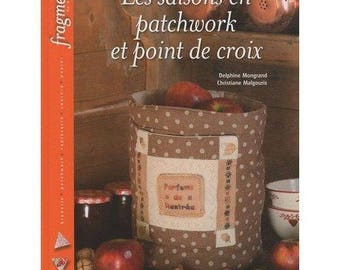 Book patchwork and cross stitch