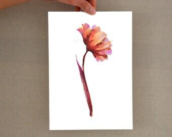 Flower glicee print, Modern minimal colorful flower print, floral wall decor, flower wall art print, floral glicee art print, minimalist art