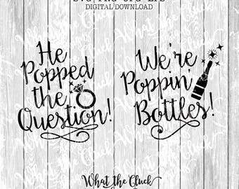 He Popped the Question / We're Poppin' Bottles DIGITAL FILE DOWNLOAD