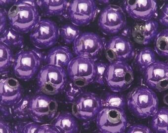 10 6mm - purple plastic beads