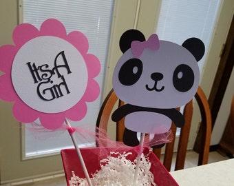 Panda Its A Girl Centerpiece, Panda Bear Baby Shower ...